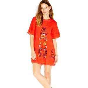 Free people embroidered dress.